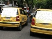 Así fue el paro de taxistas que colapsó Cali